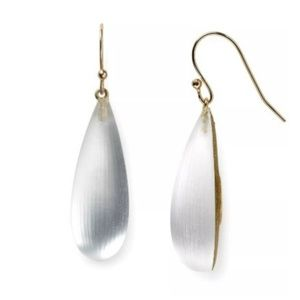 Alexis Bittar Clear Lucite Dewdrop Drop Earrings